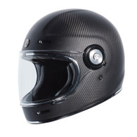 Torc T-1 Retro Full Face Moto Helmet in Gloss Carbon Fiber