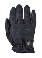 Grifter Kuro Rangers Leather and Denim Riding Gloves - Top