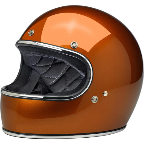 Biltwell Gringo Full Face Motorcycle Helmet in Gloss Copper  - Overview