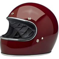 Biltwell Gringo Full Face Motorcycle Helmet in Gloss Garnet Red - Overview