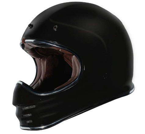 Torc T-3 Retro MX Full Face Motocross Helmet in Flat Black - Without Visor