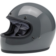 Biltwell Gringo Full Face Motorcycle Helmet in Gloss Storm Grey - Front Left