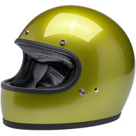 Biltwell Gringo Full Face Motorcycle Helmet in Metallic Sea Weed Green - Front Left