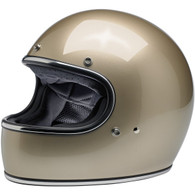 Biltwell Gringo Full Face Motorcycle Helmet in Metallic Champagne - Front Left