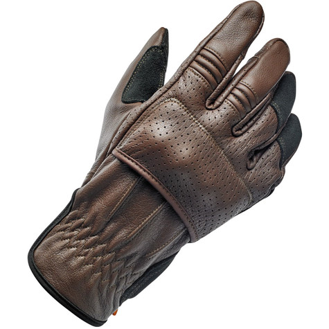 Biltwell Borrego Moto Riding Glove in Chocolate/Black - Top Right