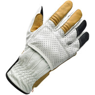 Biltwell Borrego Moto Riding Glove in Cement White/Tan/Black - Top Right