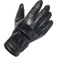 Biltwell Belden Moto Riding Glove in Black/Black - Top Right