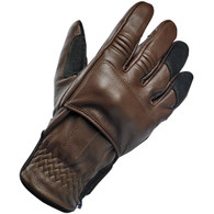 Biltwell Belden Moto Riding Glove in Chocolate/Black - Top Right