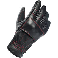 Biltwell Belden Moto Riding Glove in Redline Black/Red - Top Right