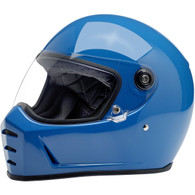 Biltwell Lane Splitter Moto Helmet in Gloss Tahoe Blue - Overview