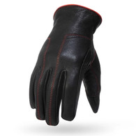 Torc Santa Monica Women's Leather Motorcycle Glove in Black/Red