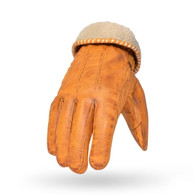 Torc San Bernardino Leather Moto Gloves in Gold