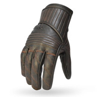 Torc Carson Leather Moto Gloves in Brown