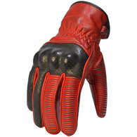Torc Whittier Leather Motorcycle Gloves in Red