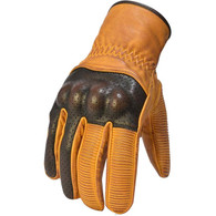 Torc Whittier Leather Motorcycle Gloves in Gold