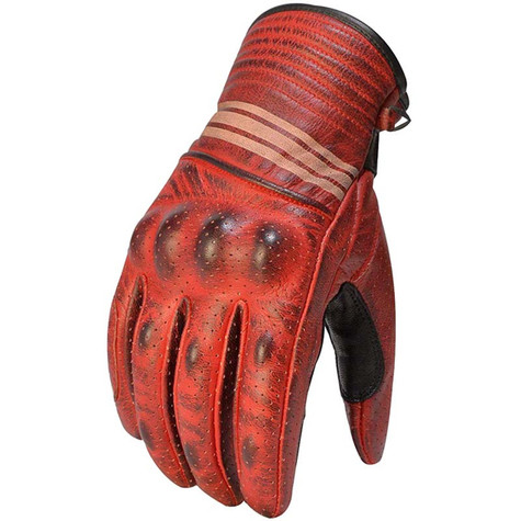 Torc Downey Leather Motorcycle Gloves in Khaki
