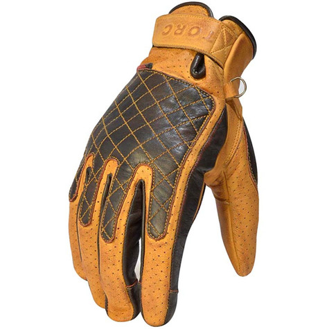 Torc Sunset Motorcycle Gloves in Gold Leather