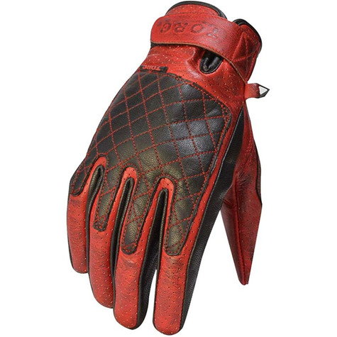 Torc Sunset Motorcycle Gloves in Red Leather