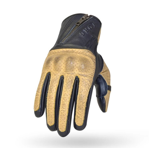 Torc San Pedro Leather Motorcycle Gloves in Blue and Cream