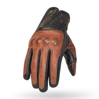 Torc San Pedro Leather Moto Gloves in Black and Cinnamon