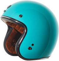 Torc T50 Moto Helmet in in Tiffany Blue - Left Front