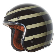 "Torc T50 ""Jailbreak"" Moto Helmet in Gloss Black and White"