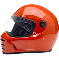 Biltwell Lane Splitter Moto Helmet in Gloss Hazard Orange - Overview
