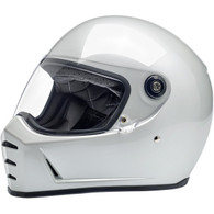 Biltwell Lane Splitter Moto Helmet in Metallic Pearl White - Overview