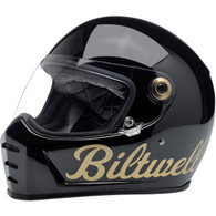 Biltwell Lane Splitter Moto Helmet in Black/Gold Factory - Overview