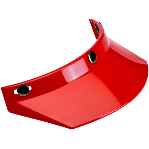 Biltwell Moto Visor in Red - Front Right