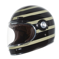 Torc T-1 Retro Full Face Moto Helmet in Jailbreak Finish - Left Side