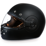 Daytona Retro Full Face DOT Helmet in Flat Black - Overview