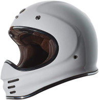 Torc T-3 Retro MX Full Face Motocross Helmet in Gloss White - Left Side