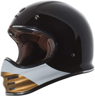 Torc T-3 Retro MX Full Face Motocross Helmet in Coyote colorway - Left Side