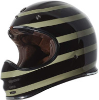Torc T-3 Retro MX Full Face Motocross Helmet in Jailbreak colorway - Left Side