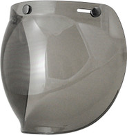 Torc Bubble Shield For 3-Snap Open Face Helmets - Chrome Mirror