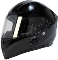 Torc T-15 DOT-Approved Full Face Motorcycle Helmet w/Blinc in Gloss Black