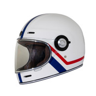 Torc T-1 Retro Full Face Moto Helmet in Allegiance Finish - Left Side