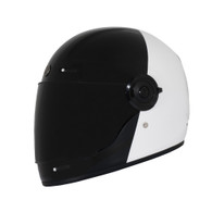 Torc T-1 Retro Full Face Moto Helmet in Fifty One Fifty - Left Side