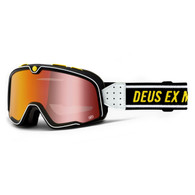 100% Barstow Deus with Mirrored Red Lens Motorcycle Goggles -Front