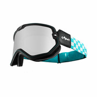 Torc Mojave Motorcycle Goggles in Turquoise Checker - Overview