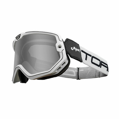 Torc Mojave Motorcycle Goggles in White/Black - Overview