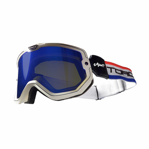 Torc Mojave Motorcycle Goggles in Americana Red/White/Blue - Overview