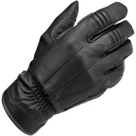 Biltwell Work Riding Motorcycle Gloves in Black - Single Top