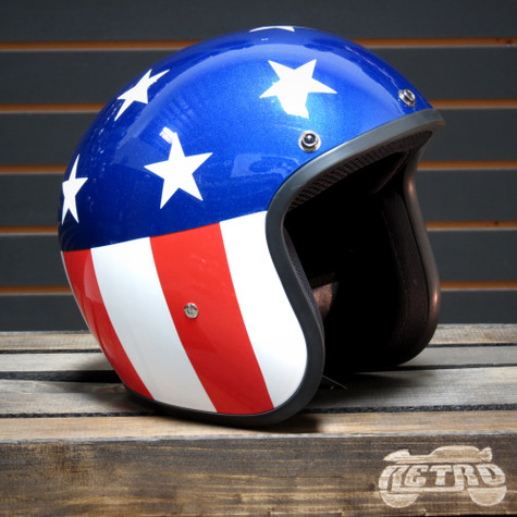 Daytona Cruiser Moto Helmet with Captain America Artwork - Overview
