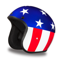 Daytona Cruiser Moto Helmet with Captain America Artwork