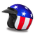 Daytona Cruiser Moto Helmet with Captain America Artwork - with Visor