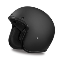 Daytona Cruiser 3/4 Open Face D.O.T. Helmet in Flat Black - Front Angle