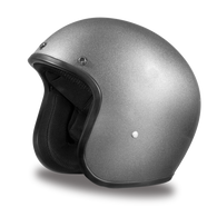 Daytona Cruiser 3/4 Open Face DOT Helmet in Silver Metallic - Front Angle