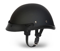 Daytona Eagle Novelty Helmet with Snaps in Flat Black